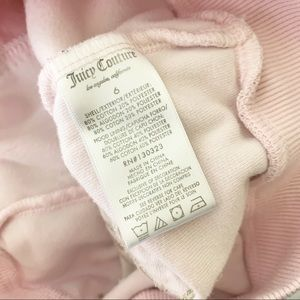 Juicy Couture Shirts & Tops - Juicy Couture Velvet Girls Pink Zip Up Sweater